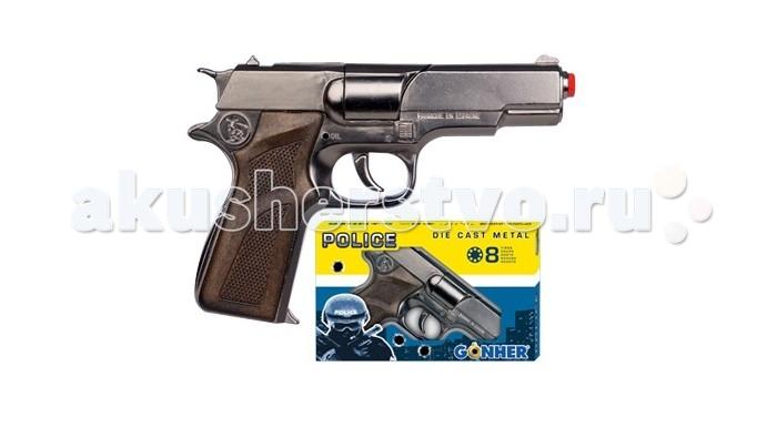 Игрушечное оружие Gonher Игрушка Пистолет Police (металл) 125/0 игрушечное оружие gonher игрушка розовый пистолет 180 2f