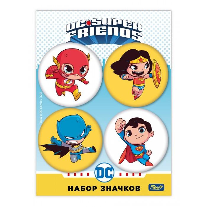 Аксессуары PrioritY Набор значков закатных DC Super Friends–1 4 шт.