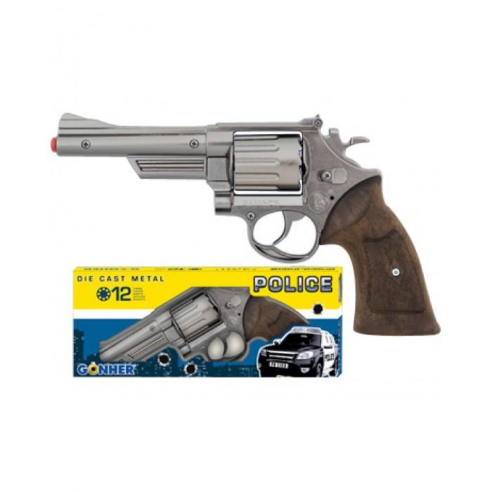 Игрушечное оружие Gonher Игрушка Револьвер Police (металл) 6067/0 игрушечное оружие gonher игрушка набор ковбой револьвер кобура 150 0