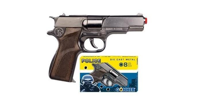 Игрушечное оружие Gonher Игрушка Револьвер Police (металл) 125/6 police pl 12921jsb 02m
