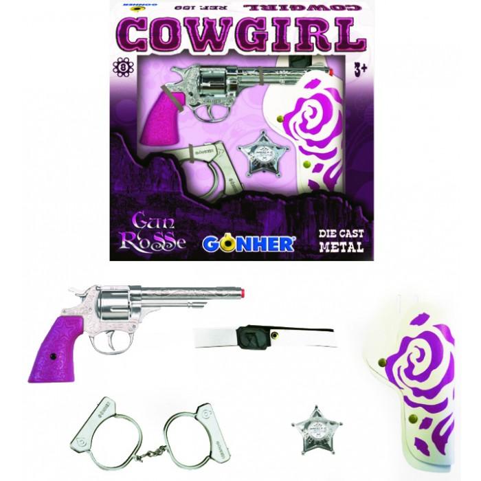 Игрушечное оружие Gonher Игрушка Ковбойский набор розовый 159/2F игрушечное оружие gonher игрушка розовый пистолет 180 2f