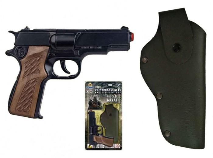 Игрушечное оружие Gonher Игрушка Полицейский пистолет + кобура 1125/6 игрушечное оружие gonher игрушка розовый пистолет 180 2f