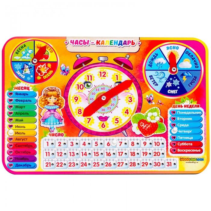 Деревянные игрушки Woodlandtoys Набор игровой Часы-календарь