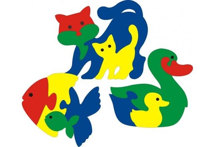 Пазлы Флексика Мозаика Фигурки животных 3 шт №2 мозаика для малышей фигурки животных 4 штуки 45905