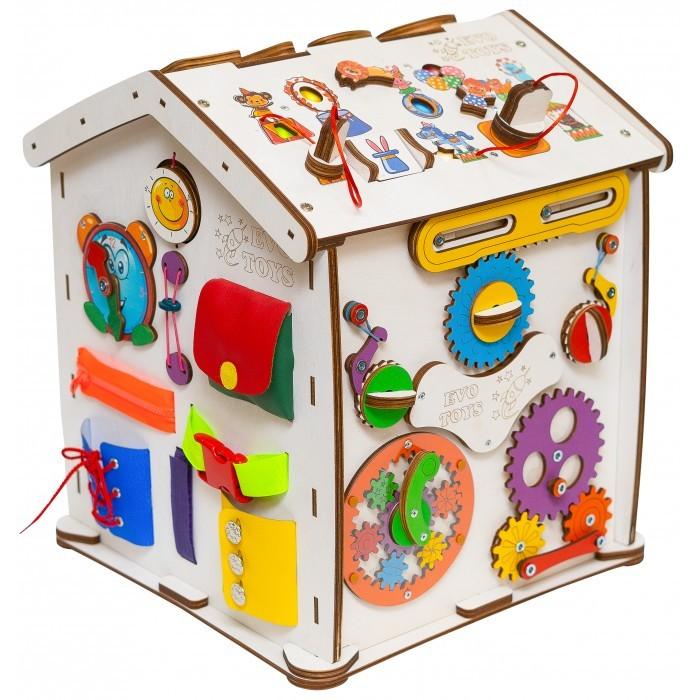 Деревянная игрушка Evotoys Бизиборд домик Знайка Цирк Миди