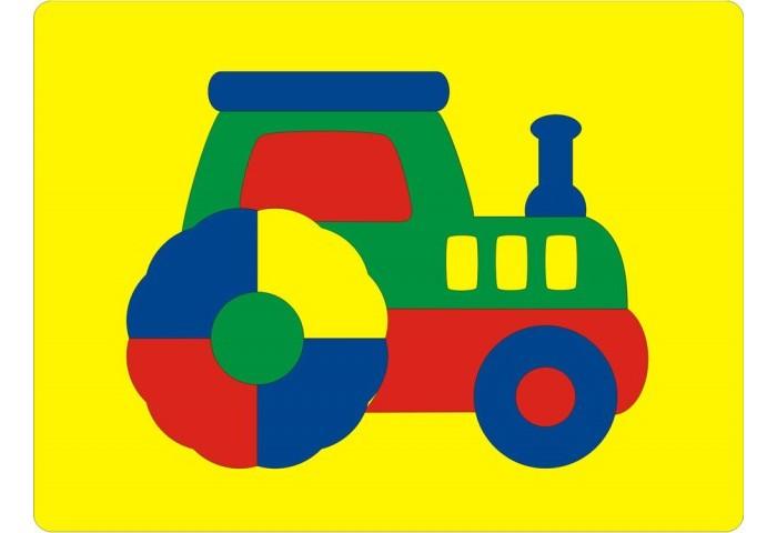 Пазлы Флексика Мозаика Трактор 45542 пазлы флексика мозаика павлин