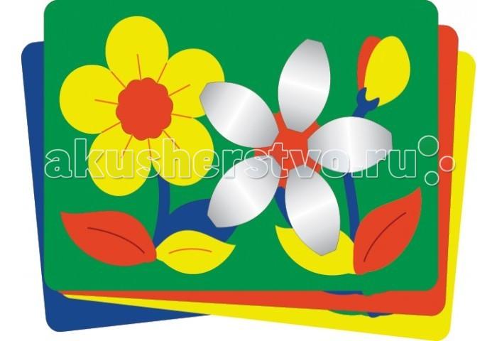Пазлы Флексика Мозаика мягкая с объемными деталями Цветочки