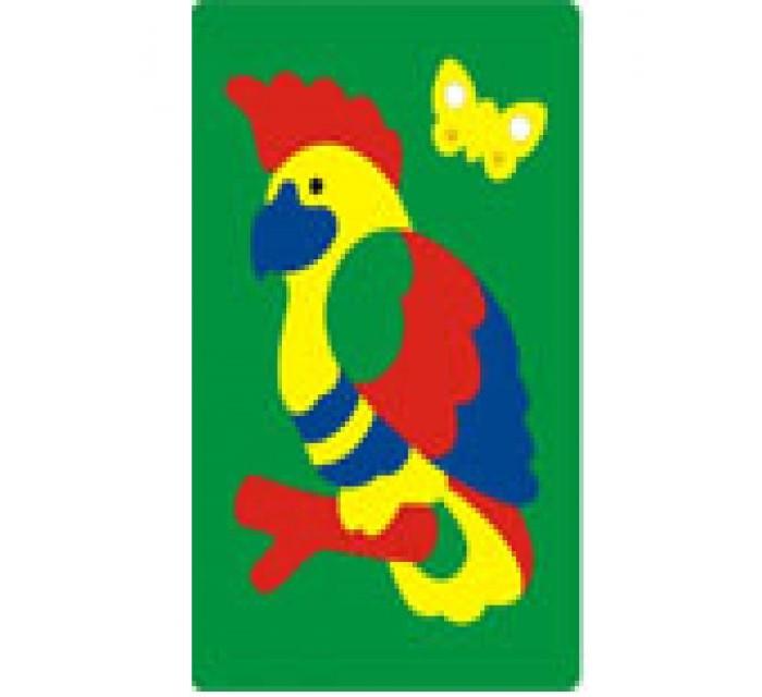 Пазлы Флексика Мозаика Попугай флексика пазл для малышей попугай цвет основы красный