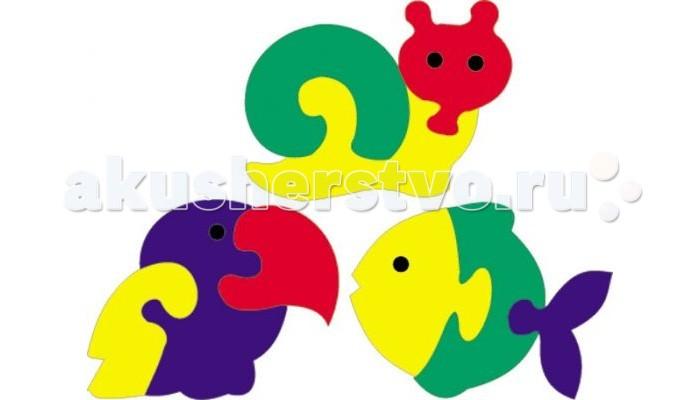 Пазлы Флексика Мозаика Мини-фигурки животных мозаика для малышей фигурки животных 4 штуки 45905