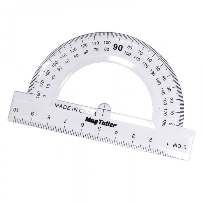 Канцелярия Magtaller Транспортир Geo 180 градусов 10 см