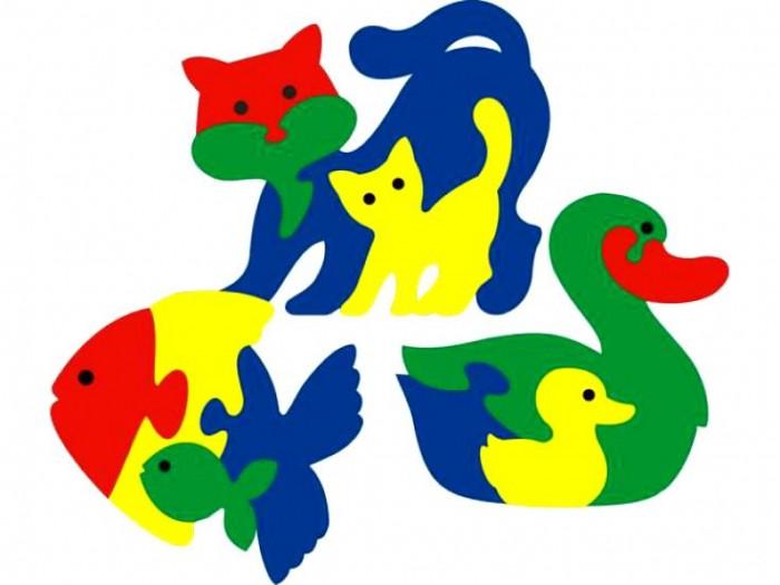 Пазлы Флексика Мозаика Фигурки животных 3 шт мозаика для малышей фигурки животных 4 штуки 45905
