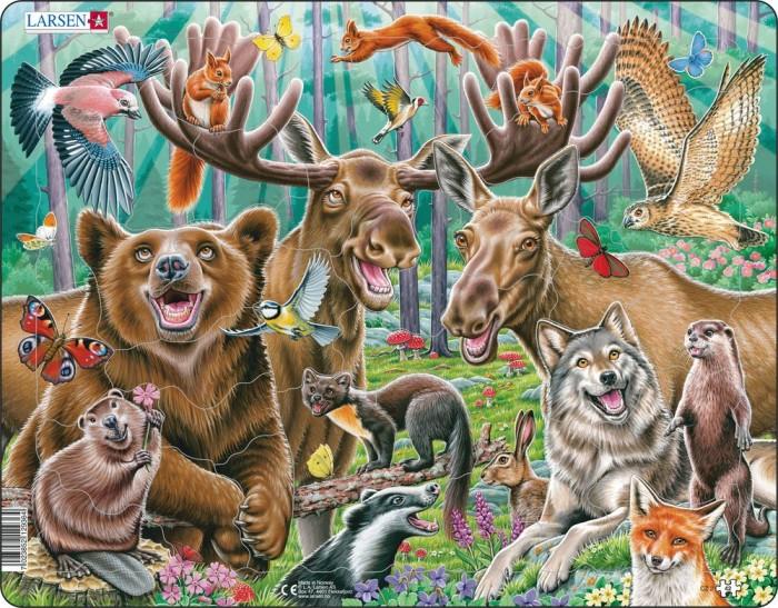 Картинка для Larsen Пазл Счастливые лесные животные