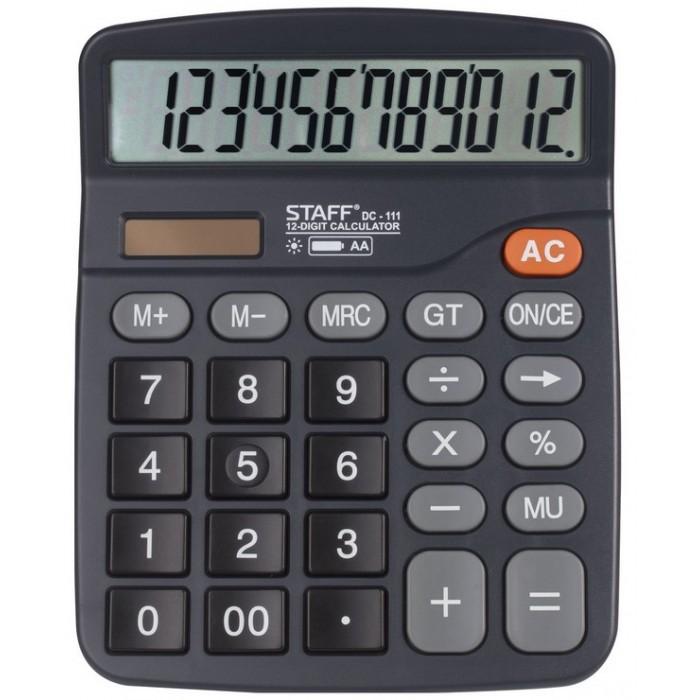 Купить Канцелярия, Staff Калькулятор настольный Plus DC-111 12 разрядов