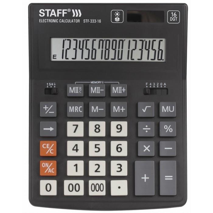 Купить Канцелярия, Staff Калькулятор настольный Plus STF-333 16 разрядов