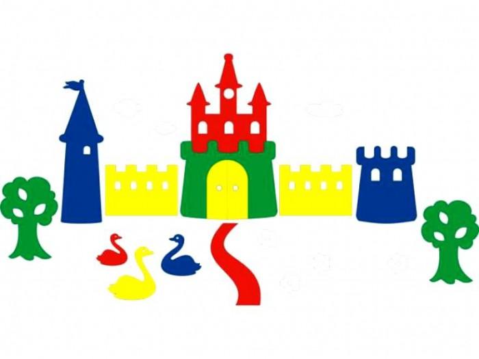 Игрушки для ванны Флексика Мозаика набор для ванны Замок игрушки для ванны флексика мозаика набор для ванны замок