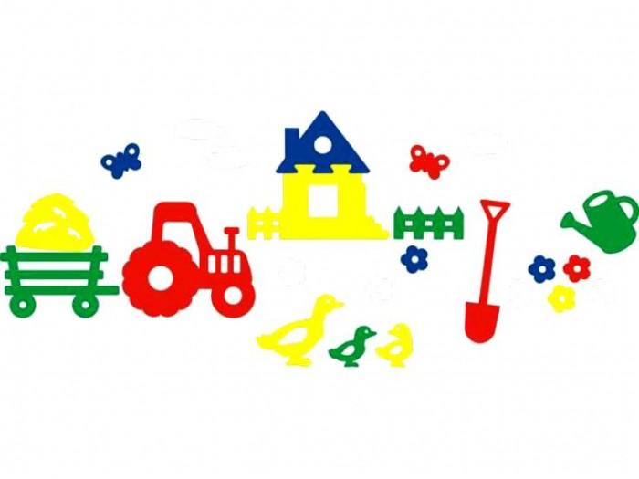 Игрушки для ванны Флексика Мозаика набор для ванны Деревня игрушки для ванны мозаика синтез книжка для купания купашки кит