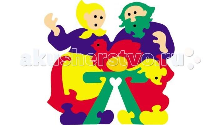 Пазлы Флексика Мозаика сказка Курочка-ряба игрушки для ванны флексика мозаика набор для ванны замок