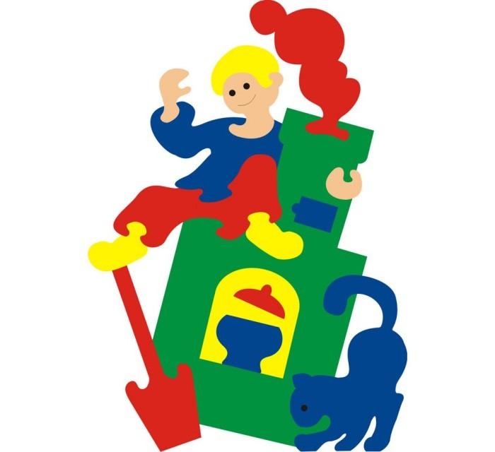 Пазлы Флексика Мозаика сказка Емеля игрушки для ванны флексика мозаика набор для ванны замок