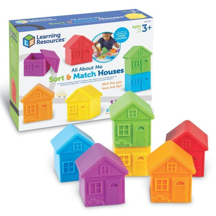 Купить Развивающие игрушки, Развивающая игрушка Learning Resources Домики для сортировки 12 шт.