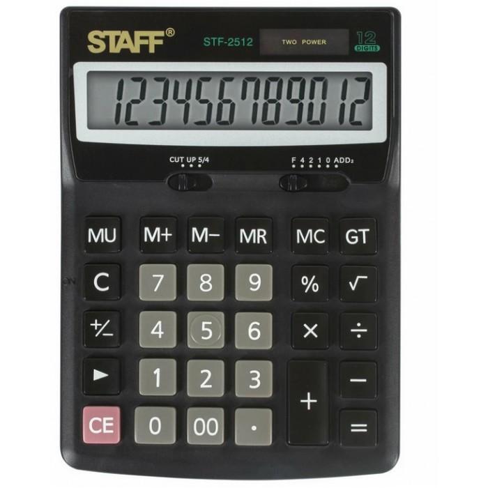Купить Канцелярия, Staff Калькулятор настольный STF-2512 12 разрядов
