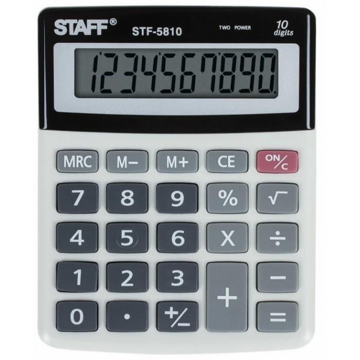 Купить Канцелярия, Staff Калькулятор настольный компактный STF-5810 10 разрядов