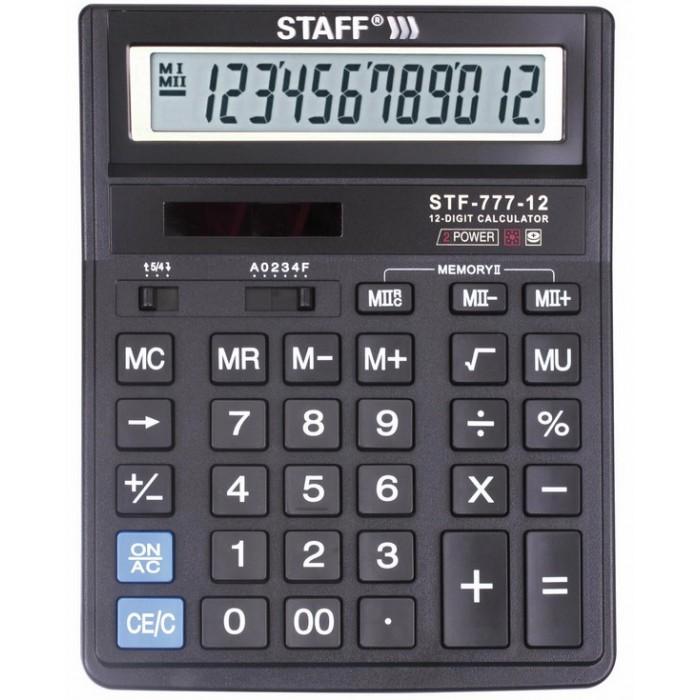Купить Канцелярия, Staff Калькулятор настольный STF-777 12 разрядов