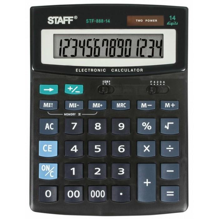 Купить Канцелярия, Staff Калькулятор настольный STF-888-14 14 разрядов
