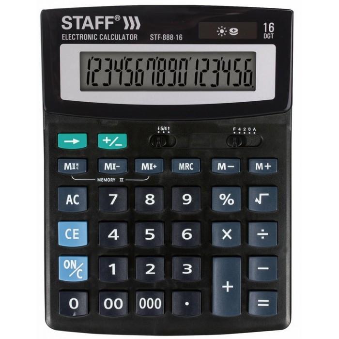 Купить Канцелярия, Staff Калькулятор настольный STF-888-16 16 разрядов