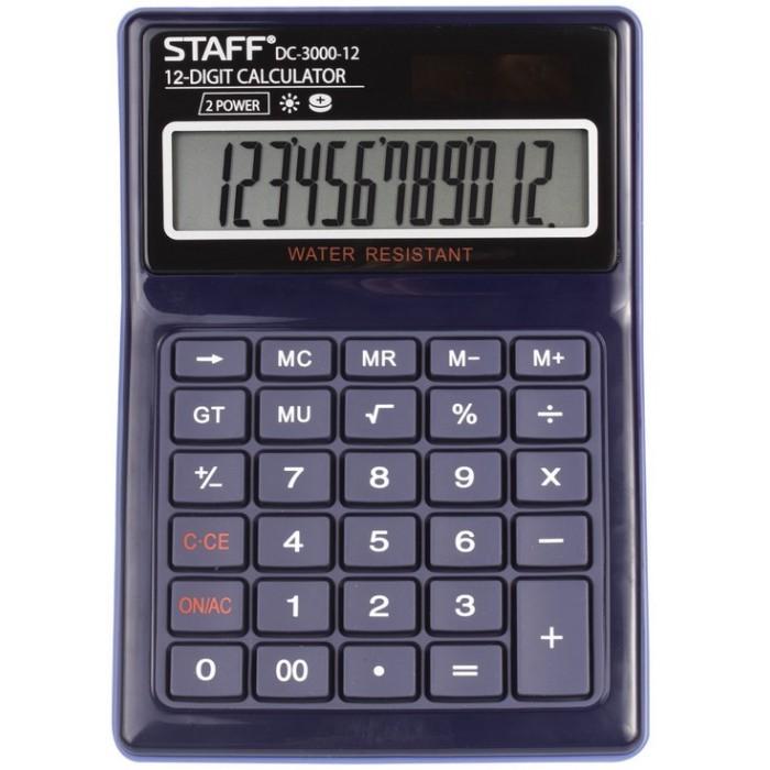 Купить Канцелярия, Staff Калькулятор настольный водонепроницаемый Plus DC-3000-12 12 разрядов