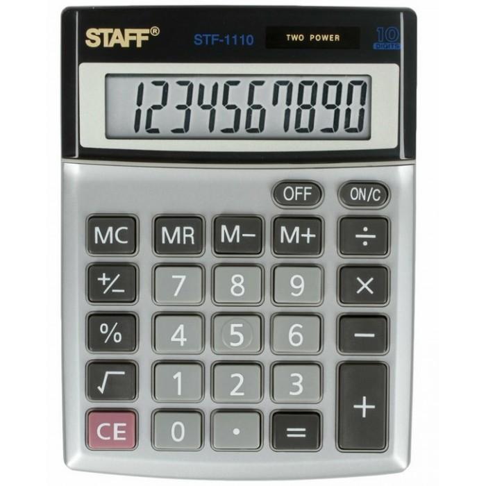 Купить Канцелярия, Staff Калькулятор настольный компактный STF-1110 10 разрядов