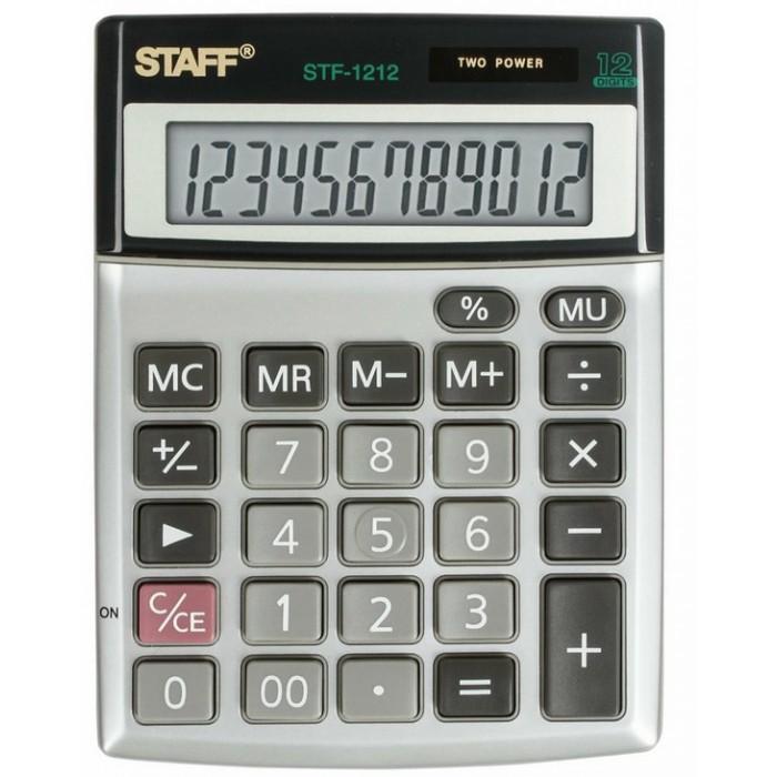 Купить Канцелярия, Staff Калькулятор настольный компактный STF-1212 12 разрядов