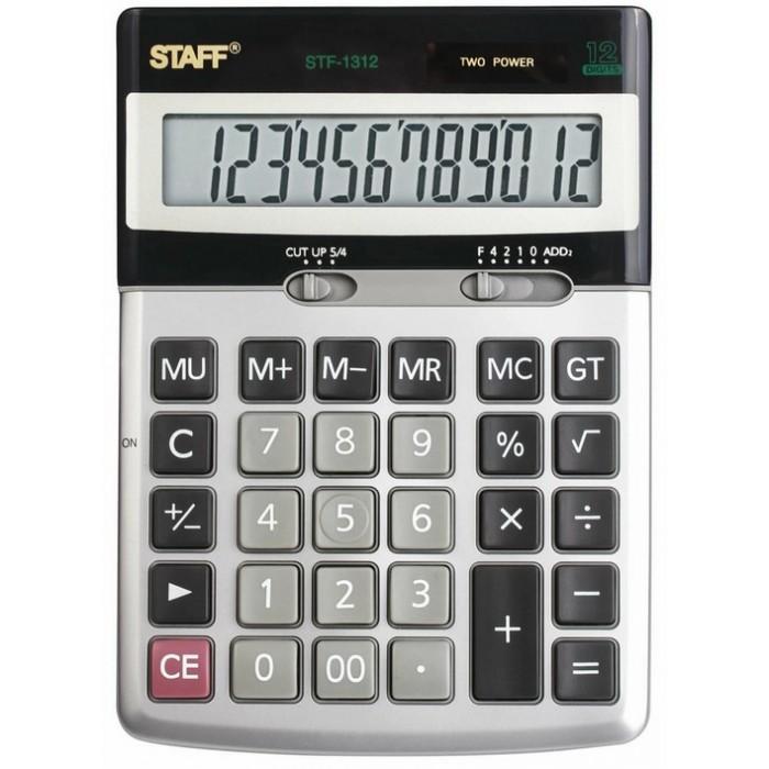 Купить Канцелярия, Staff Калькулятор настольный STF-1312 12 разрядов