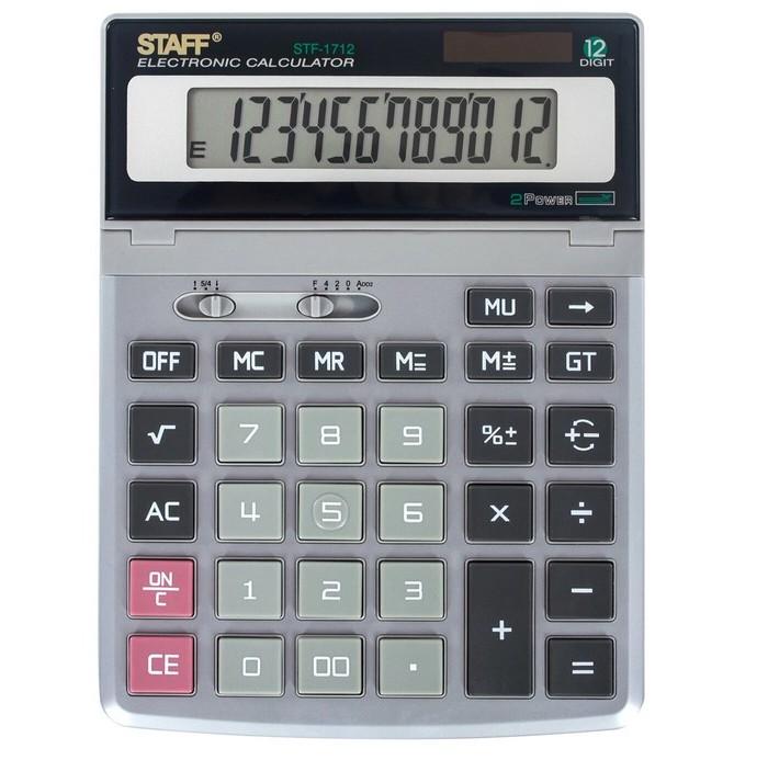 Купить Канцелярия, Staff Калькулятор настольный STF-1712 12 разрядов