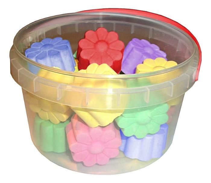 мелки цветные 06цв асфальтные пл уп подвес art berry Мелки Мелан асфальтные цветные Цветочки