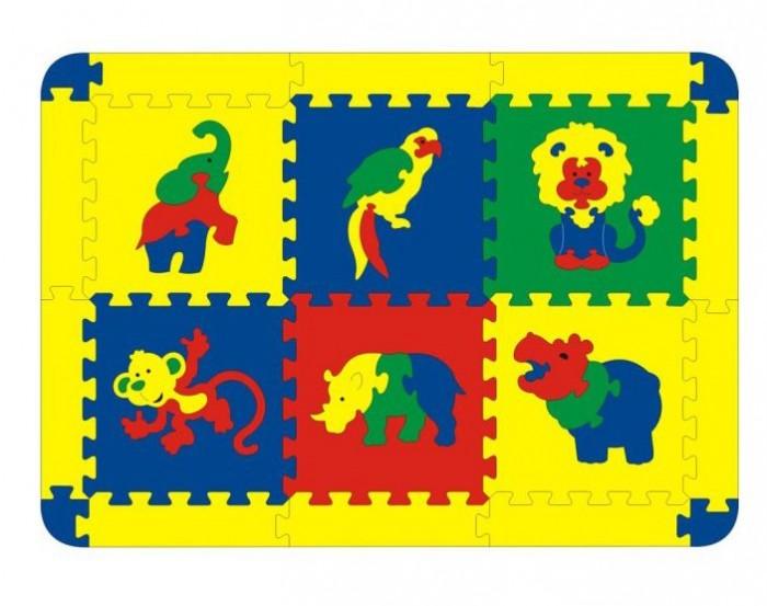 Игровые коврики Флексика Африка 6 деталей игрушка для животных каскад удочка с микки маусом 47 см