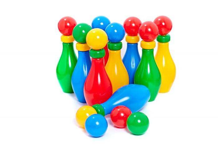 Спортивный инвентарь, Класата Игра Веселый Кегельбан с шариком и кольцом (30 деталей)  - купить со скидкой