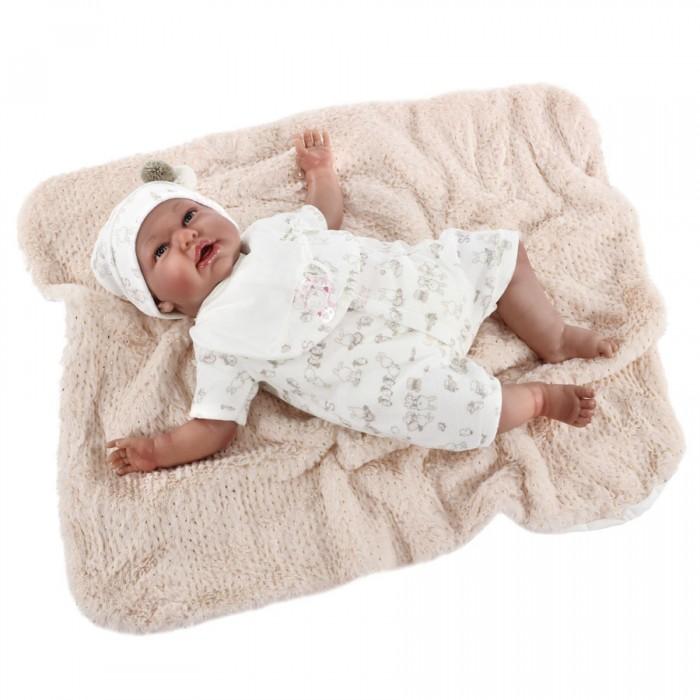 Munecas Antonio Juan  Кукла Реборн младенец Урсула в белом 52 см