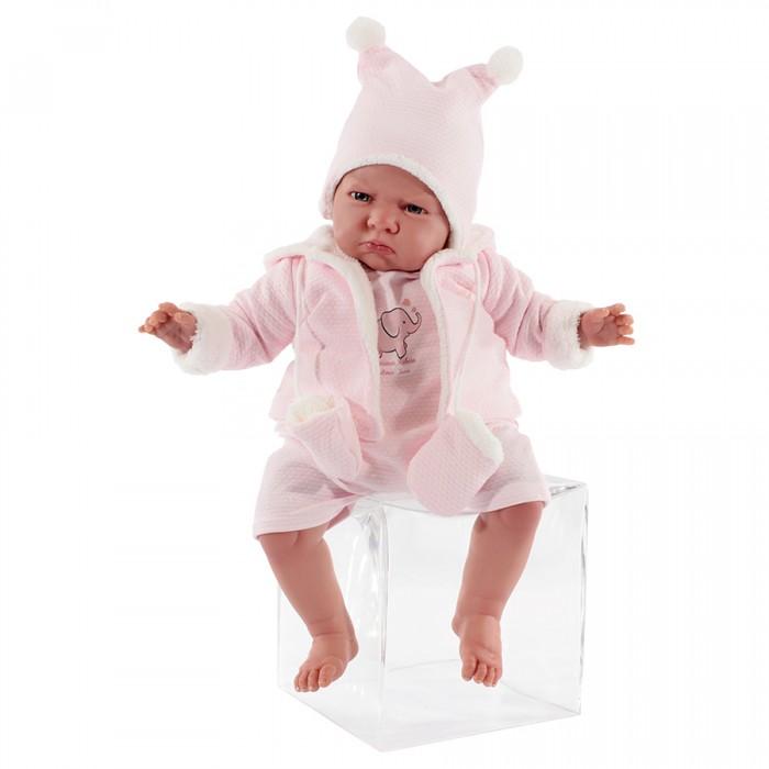 Munecas Antonio Juan  Кукла Реборн младенец Салюд в розовом 52 см