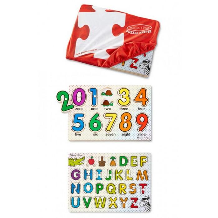 Деревянные игрушки Melissa & Doug Пазл Буквы и цифры