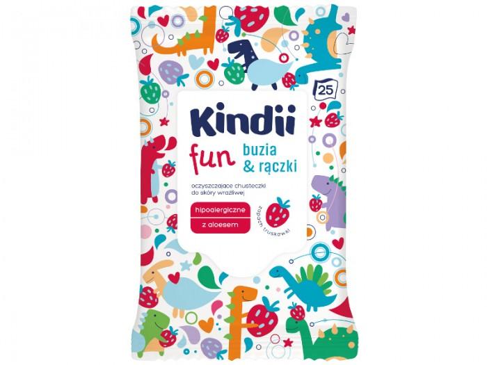 Салфетки Kindii Влажные салфетки для детей и младенцев для очищения чувствительной кожи личика и ручек Fun