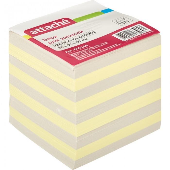 Канцелярия Attache Блок для записей Economy на склейке цветной 9х9х9 см канцелярия attache economy планинг недатированный economy 56 листов