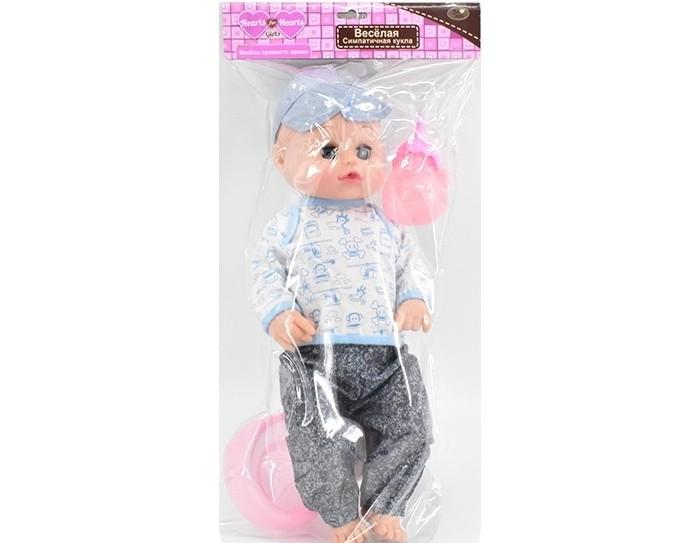 Фото - Куклы и одежда для кукол Игротрейд Пупс со звуковыми эффектами и аксессуарами куклы и одежда для кукол игротрейд пупсик спящий