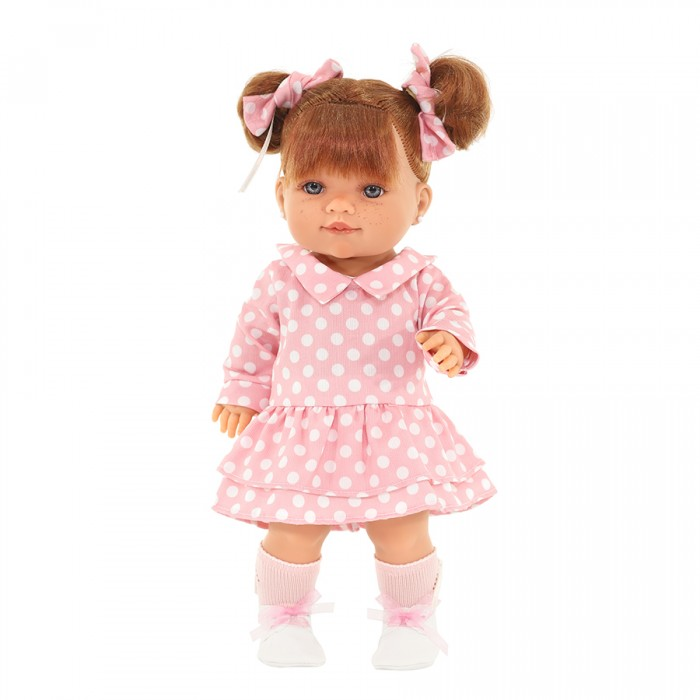 Куклы и одежда для кукол Munecas Antonio Juan Кукла Констация в платьице в горошек 38 см