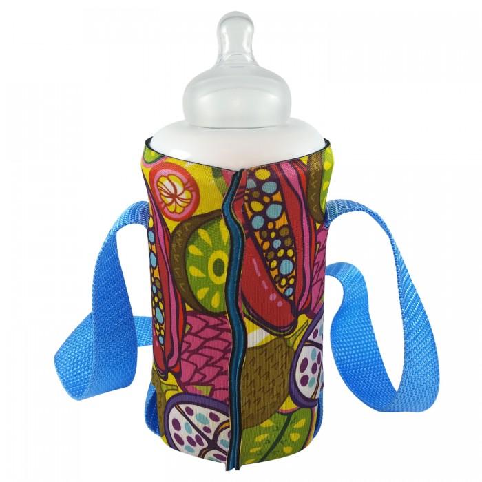 Аксессуары для бутылочек и поильников WOW! GIMPAS Чехол-держатель для детских бутылочек с широким горлом Сочные фрукты аксессуары для колясок nuovita двойной держатель для бутылочек doppio