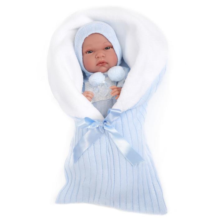 Munecas Antonio Juan  Кукла-младенец Диана в голубом 33 см