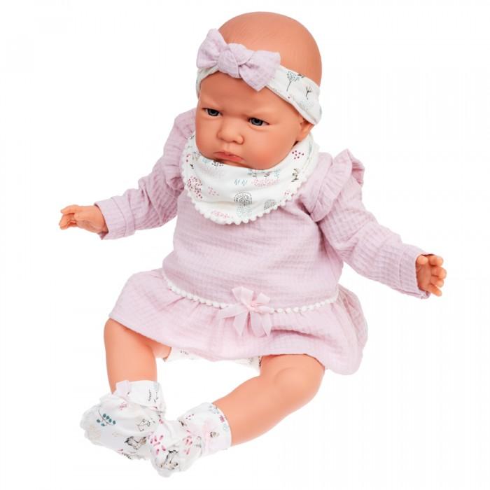 Купить Куклы и одежда для кукол, Munecas Antonio Juan Кукла Анна в розовом озвученная 52 см