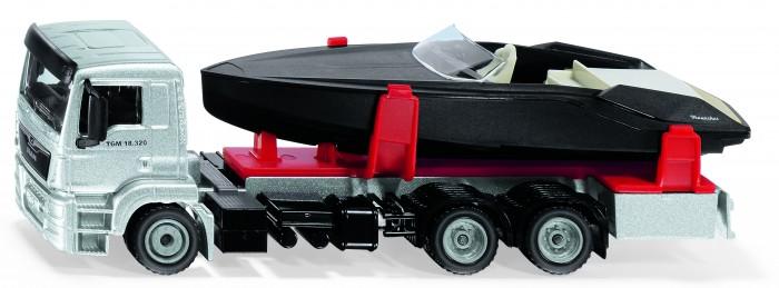 Машины Siku Грузовик MAN с моторной лодкой 1:50 машины siku джип с лодкой 1658