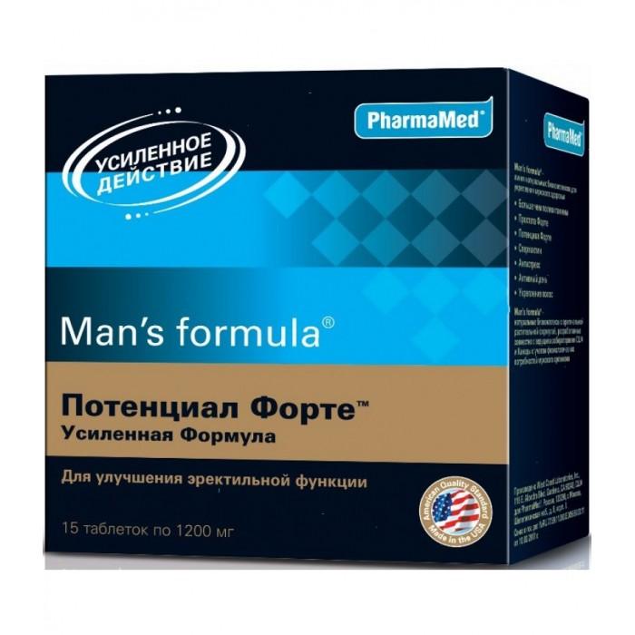Картинка для Man's formula Таблетки Потенциал Форте усиленная формула 1200 мг №15