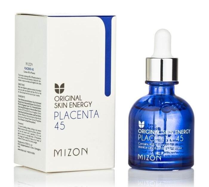 Купить Косметика для мамы, Mizon Placenta 45 Сыворотка для лица (плацента) 30 мл