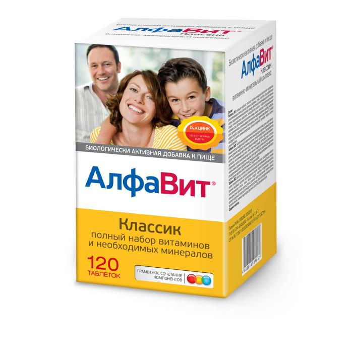 Купить Витамины, минералы и БАДы, АлфаВит Биологически активная добавка Классик таблетки 120 шт.
